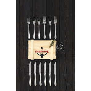 WMF steak cutlery in wooden box