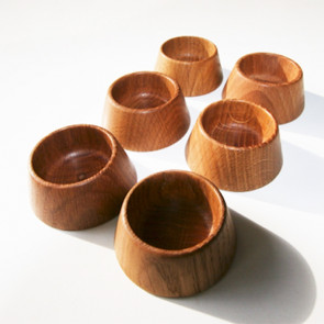 6 Egg / Salt / Pepper-cup - OAK